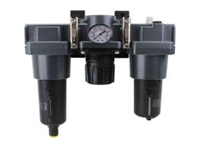 FRL (High Flow) Air Filter, Regulator, and Lubricator System - 1 NPT - Metal Bowl, Automatic Float
