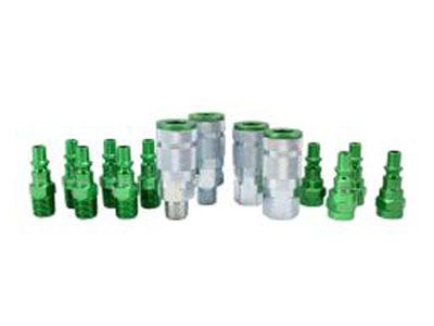 ColorFit Coupler & Plug Kit - (A-Style, Green) - 1/4 NPT, (14-Piece)