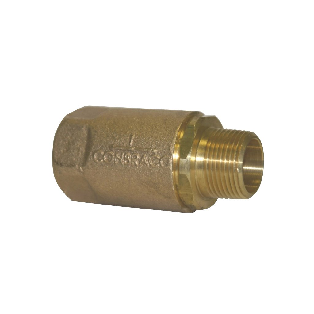 1//2 1//2 Dixon 61-203 Brass Ball Cone Check Valve MNPT x FNPT Domestic