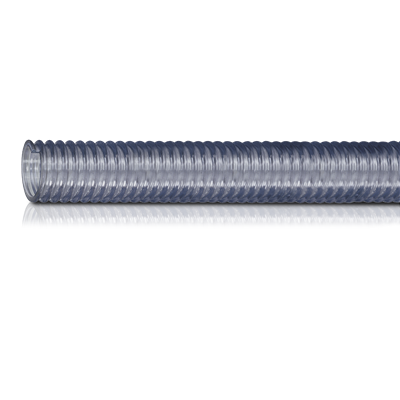 8 ID CLEAR FDA PVC CORRUGATED HOSE