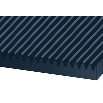 1/8 TH X 36 BLACK CORRUGATED RUBBER