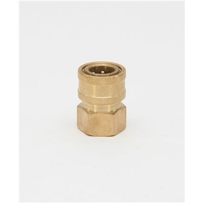 3/8 BRASS FEMALE STRAIGHT-THRU COUPLING