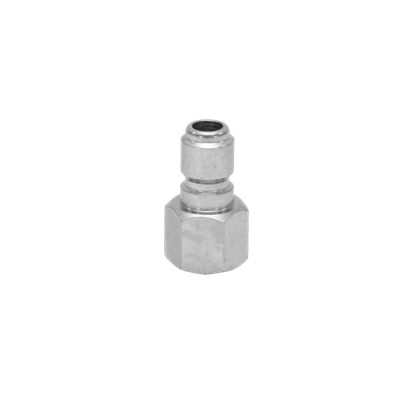 3/8 STEEL FEMALE STRAIGHT-THRU PLUG